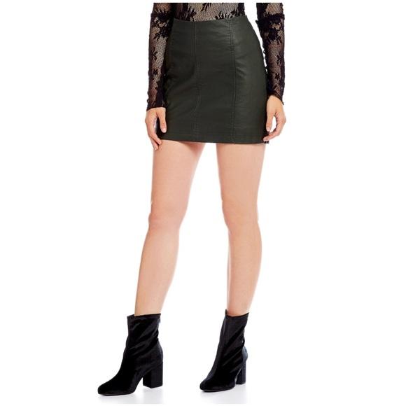 cf49e70549 Free People Dresses & Skirts - Free People | Modern Femme Vegan Leather  Skirt